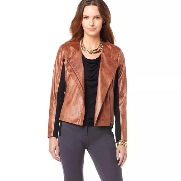 G by Giuliana Jackets & Blazers - G by Giuliana | 1X | Black & Brown Leather Jacket